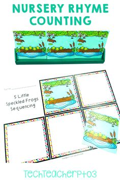 Help your students make meaningful connections to counting through rhymes. These activities provide real-world scenarios for counting and simple subtracting. The nursery rhyme will help students with one-to-one correlation and retells too! Perfect for teaching kinder math. #techteacherpto3 5 Little Speckled Frogs, Frog Nursery, Primary School Curriculum, Teaching Addition, Subtraction Activities, Teaching Numbers, Australian Curriculum, Number Sense, Addition And Subtraction