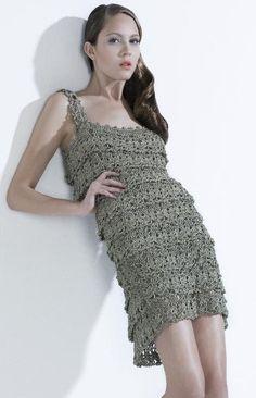 Crocheted dress  made to order crochet handmade chic by dosiak