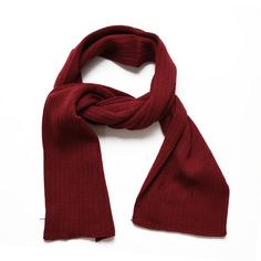"""SANREMO Unisex Kids Ribbed Knitted Warm Winter Outdoor Scarf Shawl (Maroon). Warm knitted Winter scarf, breathable, soft and smooth to touch, keep your child warm in the cold winter. One Size Fits Most. Scarf Length: 54"""", Width: 6.5""""; Suitable for Both Boys and Girls. A Great Accessory for Everyday Wear, And the Perfect Gift for All Occasions and Seasons. Please Note: The Actual Color of Our Product May Slightly Vary From the Product Images Due To Different Computer Screen Display."""