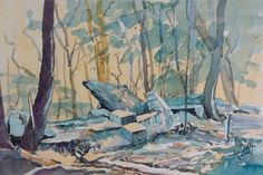 Lex Hamers. Ruins in the woods. 2013. Watercolour, 32,5 x 50 cm.