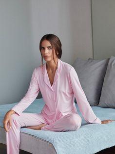 "Derek Rose Jersey Damenpyjama ""Carla Pink"", Mood Outfit, Pink, Mood, Women, Fashion, Moda, Women's, La Mode, Fasion"