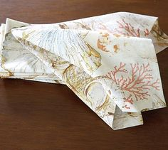 Scattered Shell Napkins, Set of 6 #potterybarn