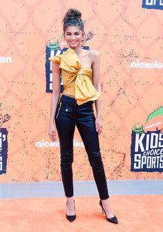 Zendaya wore all Moschino at the Nickelodeon Kids' Choice Sports! See the pics!