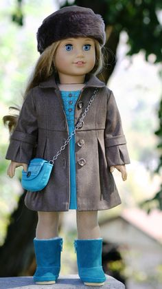 American Girl Doll Clothes FauxLeather by DollClosetHeirlooms, Sewing Doll Clothes, Girl Doll Clothes, Doll Clothes Patterns, Girl Dolls, Ag Dolls, Doll Patterns, My American Girl Doll, American Girl Crafts, American Doll Clothes
