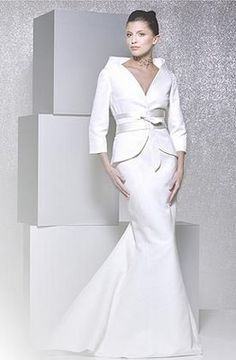 Long sleeved winter Wedding dress   suit with long flared skirt  My Wedding  Concierge   Ben Sherman suits Search Results   Page 1italian women suits designs   You can add the skirt from one style  . Dress With Jacket For Wedding. Home Design Ideas