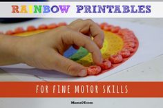 Rainbow Printables for Fine Motor Skills!