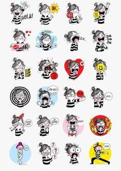 Free Diario de una Volátil Line Stickers In Spain
