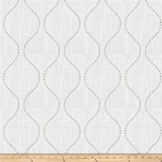 0394d4408f3 This embroidered faux linen fabric is medium weight and perfect for window  treatments and accent pillows