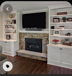 Fireplace With Cabinets, Bookshelves Around Fireplace, Built In Around Fireplace, Fireplace Built Ins, Home Fireplace, Fireplace Remodel, Living Room With Fireplace, Fireplace Design, Fireplace Ideas
