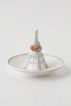 Cute Eiffel Tower ring holder // Anthropologie Molly Hatch Landmark Ring Dish #Anthrofave