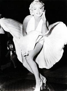 """Marilyn Monroe en""""La Tentación Vive Arriba"""" (The seven year itch), 1955"""