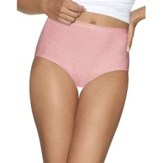 Hanes Womens Ultimate Cotton Comfort Briefs Assorted Colors 4-Pack
