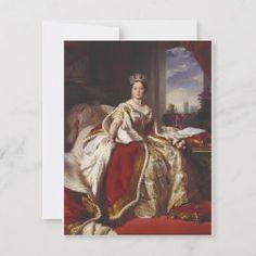 Franz Xaver Winterhalter- Queen Victoria Postcard | Zazzle.com Franz Xaver Winterhalter, Aveeno Daily Moisturizing Lotion, Queen Victoria, Family History, Postcard Size, Paper Texture, War, Classic, Prints