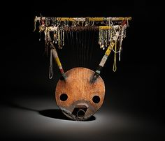 Kerar Date: early to mid-20th century Geography: Ethiopia or Sudan Medium: Wood, beads, shells, fiber, metal, hide Dimensions: H. 85.1 x L. ...