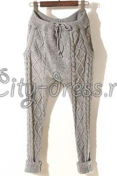 купить вязанную сумку | Фото молодежные вязаные штаны женские ...
