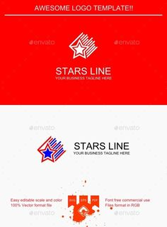Stars Line Logo — Vector EPS #simple #professional • Available here → https://graphicriver.net/item/stars-line-logo/9427331?ref=pxcr