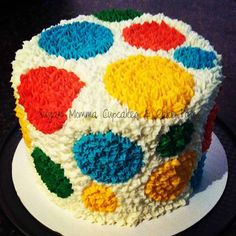 First Birthday Smash Cake in Bright Primary Colors