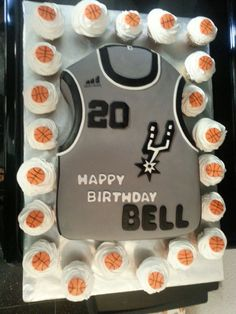 Spurs cake and cupcakes!