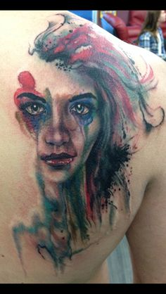 Delirium from Sandman is an interesting and ever evolving character. I think this tattoo captures her beauty.