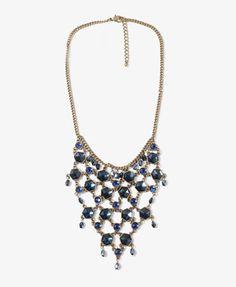 big gaudy necklace!