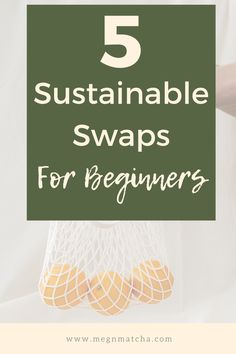 Wondering how to be more sustainable? Here is a list of 5 zero waste, sustainable swaps for beginners that are cheap and easy to implement in your everyday life. From reusable products to buying in bulk, these low waste swaps will help you live more eco-friendly and reduce your impact on the environment. Zero waste and sustainable living doesn't have to be expensive! You can totally save the planet on a budget. Save The Planet, Wellness Tips, Sustainable Living, Zero Waste, Matcha, You Can Do, Sustainability, Eco Friendly, Environment