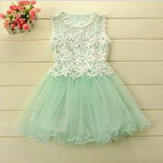 New Dress Promotion: Mint Green Girls Lace Dress, flower girl dress, tutu dress
