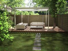The pergola kits are the easiest and quickest way to build a garden pergola. There are lots of do it yourself pergola kits available to you so that anyone could easily put them together to construct a new structure at their backyard. Pergola Cost, Pergola Canopy, Pergola With Roof, Wooden Pergola, Patio Roof, Pergola Patio, Wooden Playhouse, Back Deck Designs, Pergola Designs