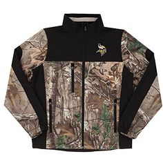 NFL Minnesota Vikings Hunter Colorblocked Softshell Jacket Real Tree Camouflage 2X ** More info could be found at the image url.