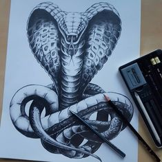 #snake #cobra #art #pencil #drawing