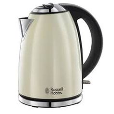 Russell Hobbs offers this cream stainless steel jug kettle, which boats a litre capacity with a removable filter system for easy cleaning. It is designed with cord storage for added practicality and has a convenient viewing window. Russel Hobbs, Tidy Kitchen, Basic Kitchen, Kitchen Ideas, Kitchen Planning, Kitchen Art, Kitchen Tools, Kitchen Island, Cooking Appliances