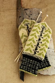 The Birch Knitted Mittens are inspired by Latvian mittens