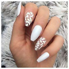 Acrylic Nails Coffin Short, Simple Acrylic Nails, Summer Acrylic Nails, Best Acrylic Nails, Acrylic Nail Designs, Nail Designs Floral, Spring Nails, White Summer Nails, Floral Nail Art