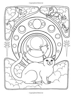 Cats A Journey Through Time Coloring For The Curious Book