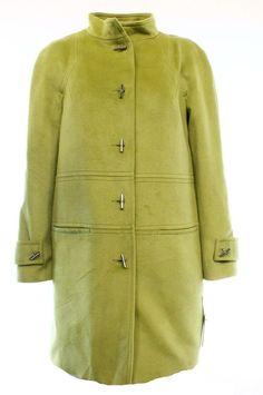 Tribal NEW Green Pistachio Velour Toggle Front Women's Size 2 Basic Coat $175 #Tribal #BasicCoat