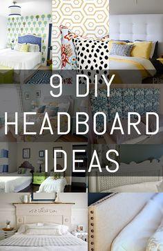9 DIY Headboard Ideas via ErinSpain.com.