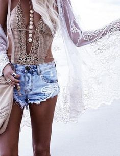 Flowing fabric and lace are typical bohemian styles and allows for plenty of layering. | Our Top 10 Bohemian Chic Outfit Ideas to Copy