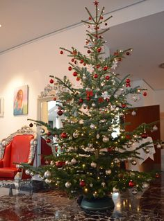 Christmas tree at ARCOTEL Kaiserwasser Vienna