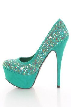 Sea Green Faux Suede Faceted Beaded Platform Pump Heels @ Amiclubwear Heel Shoes online store sales:Stiletto Heel Shoes,High Heel Pumps,Womens High Heel Shoes,Prom Shoes,Summer Shoes,Spring Shoes,Spool Heel,Womens Dress Shoes,Prom Heels,Prom Pumps,High He