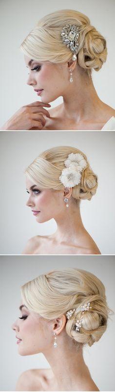 pretty ideas for wedding updos