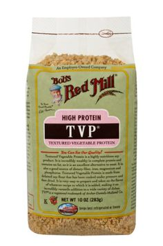 Shop the best Bob's Red Mill TVP Textured Vegetable Protein 10 oz Pkg products at Swanson Health Products. Trusted since we offer trusted quality and great value on Bob's Red Mill TVP Textured Vegetable Protein 10 oz Pkg products. Vegetarian Cooking, Vegetarian Recipes, Healthy Recipes, Vegan Meals, Vegetarian Tacos, Going Vegetarian, Bariatric Recipes, Vegetarian Dinners, Healthy Dishes