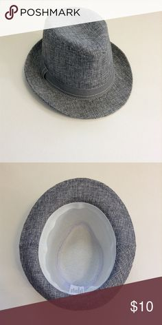 Baby Boy Fedora Adorable grey fedora. Like new condition. No size listed but it fit our little guy at 12 months-ish. Accessories Hats