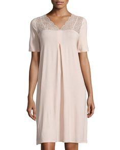 Noelia Short-Sleeve Gown, Women's, Size: XL, Bellini - Hanro