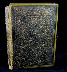 Antique Pocket Bible 1874 Watkins Binder Brass Edging & Clasp Oxford London