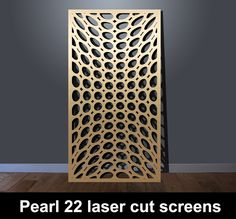 Laser cut patterns for screens and panels I Custom Designs