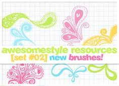 brushes set 02 by awesomestyle.deviantart.com on @deviantART