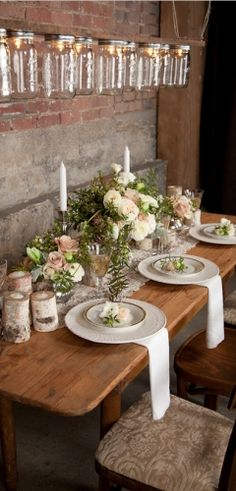 Perfect rustic table layout