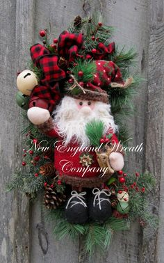 Santa Claus Jingle Bell Swag by NewEnglandWreath