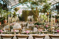 Garden-Inspired Michigan Wedding, Green House Reception with Garden Details