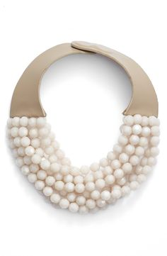Multirow Beaded Collar Necklace