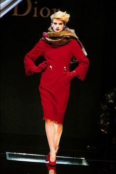 Kristen McMenamy in Dior   - HarpersBAZAAR.com